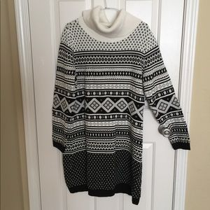 Tommy Hilfiger black white sweater dress